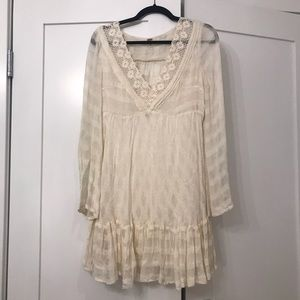 Lace free people dress with open back